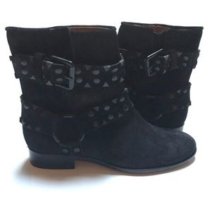 Frye Studded Carly Suede Short Ankle Boots 6.5
